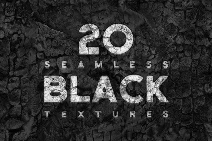 20 Seamless Black