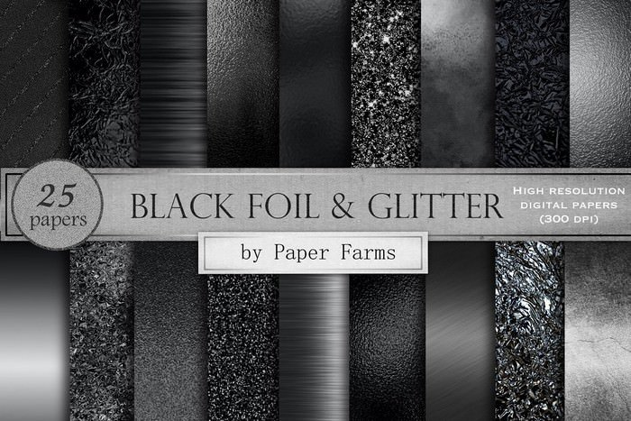 25 Papers Black textures