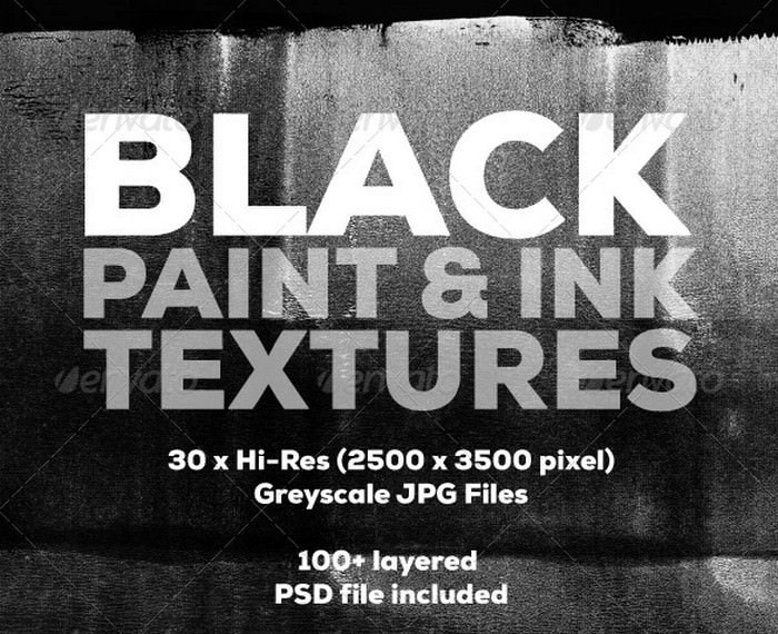 Black Paint and Ink Textures