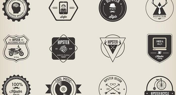 Hipster Badges