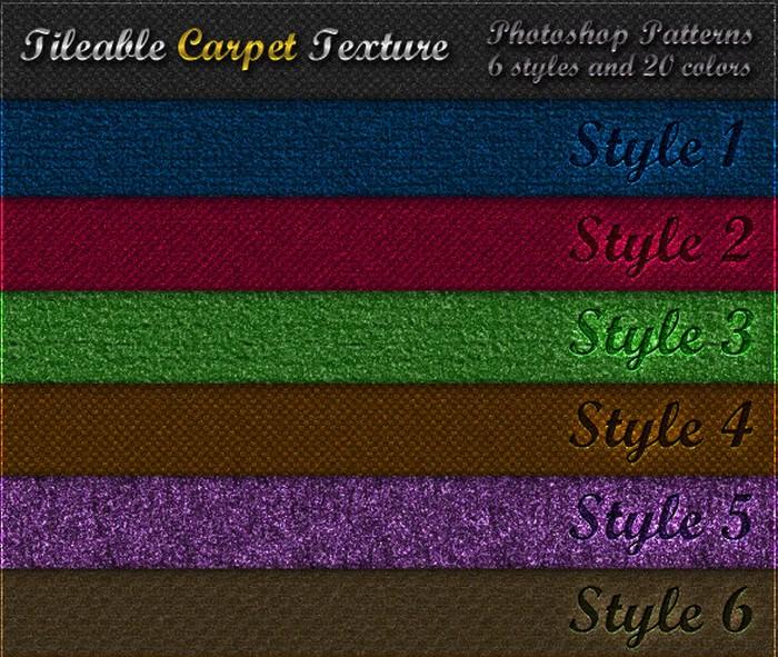 6 Tileable Carpet Textures - Photoshop Patterns