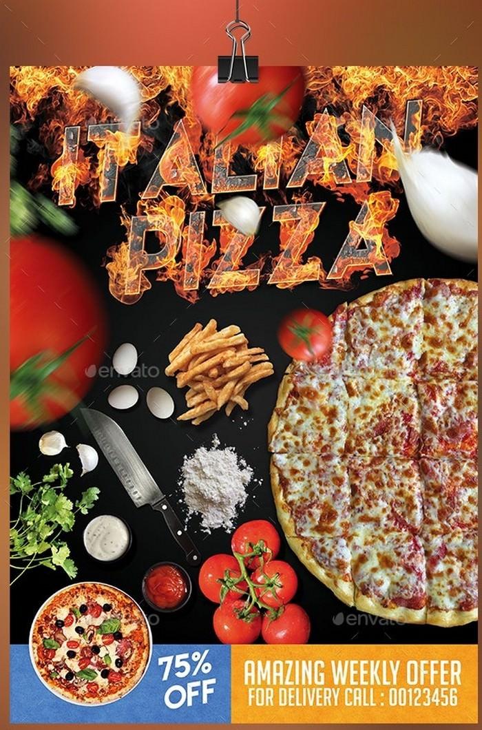 Italian Pizza PSD Flyer