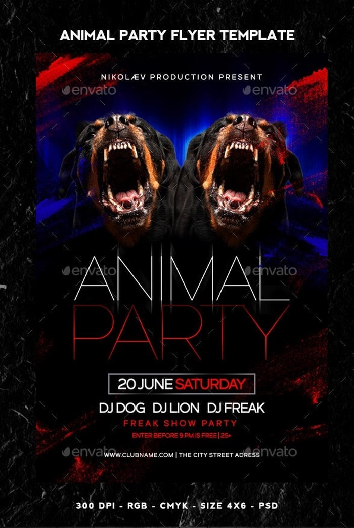 Animal Party Flyer