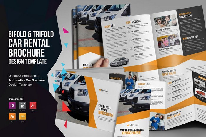 Auto Car Rental Service Brochure