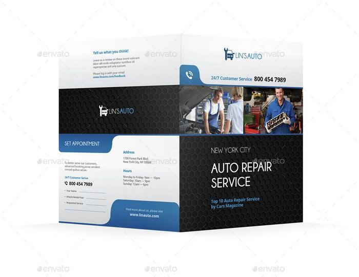 Auto Repair Bifold Halffold Brochure