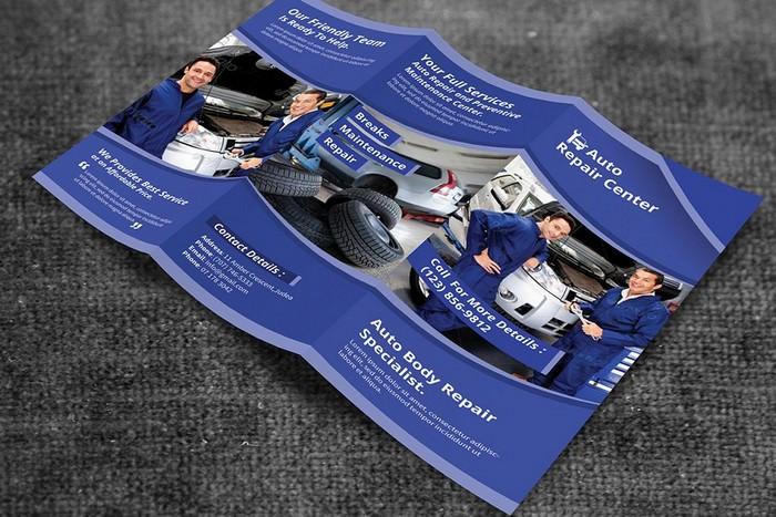 Auto Repair Service Trifold Brochure