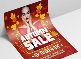 Autumn Sale – Free PSD Flyer Template