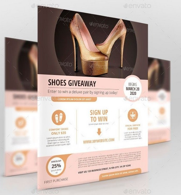 Business Promotion Shoes Giveaway
