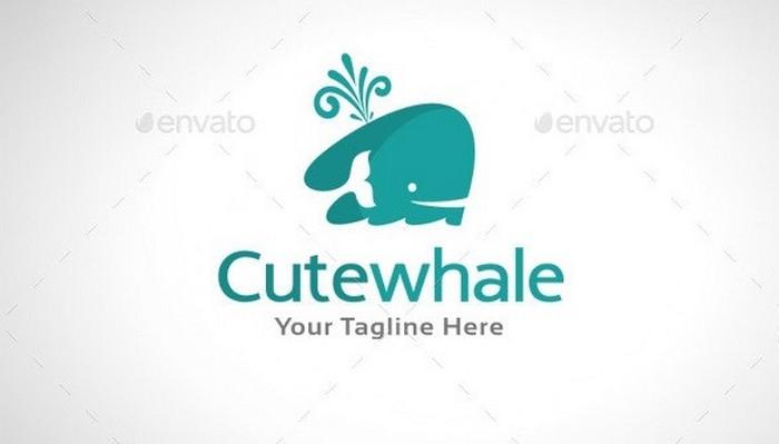 Cute Whale Logo