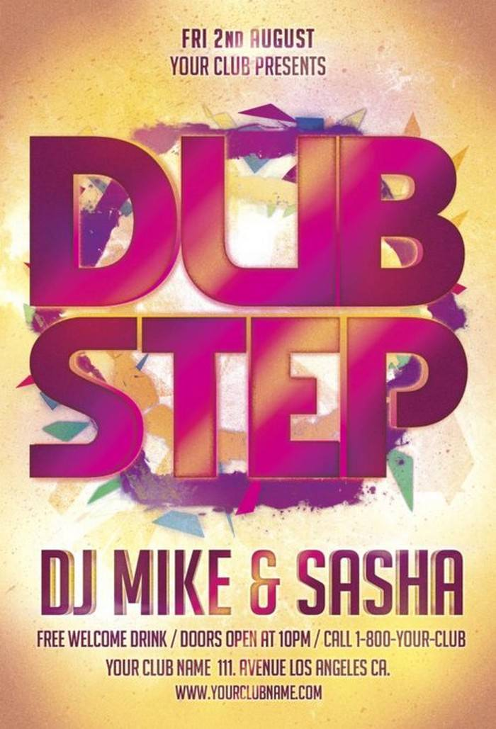 Dub Step Party Flyer