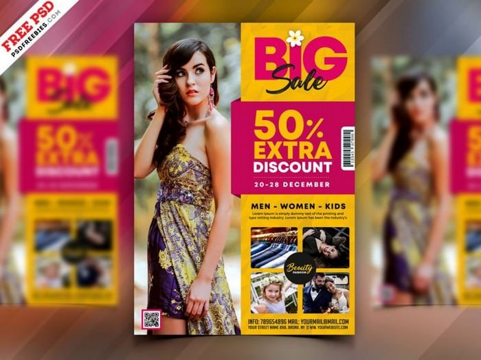 Fashion Big Sale Flyer Template PSD