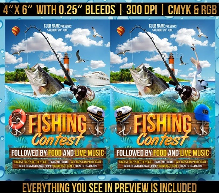 Fishing Contest Flyer Template # 2