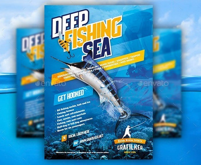 Fishing Flyer Templates
