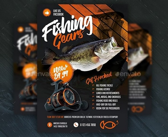 Fishing Gear Flyer Templates