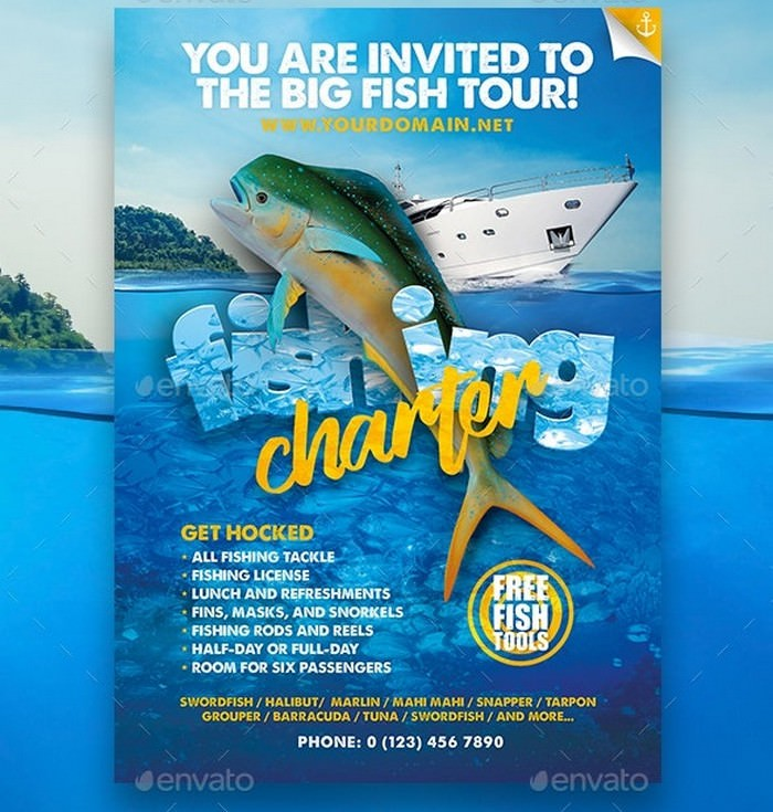 Fishing Tour Flyer Template