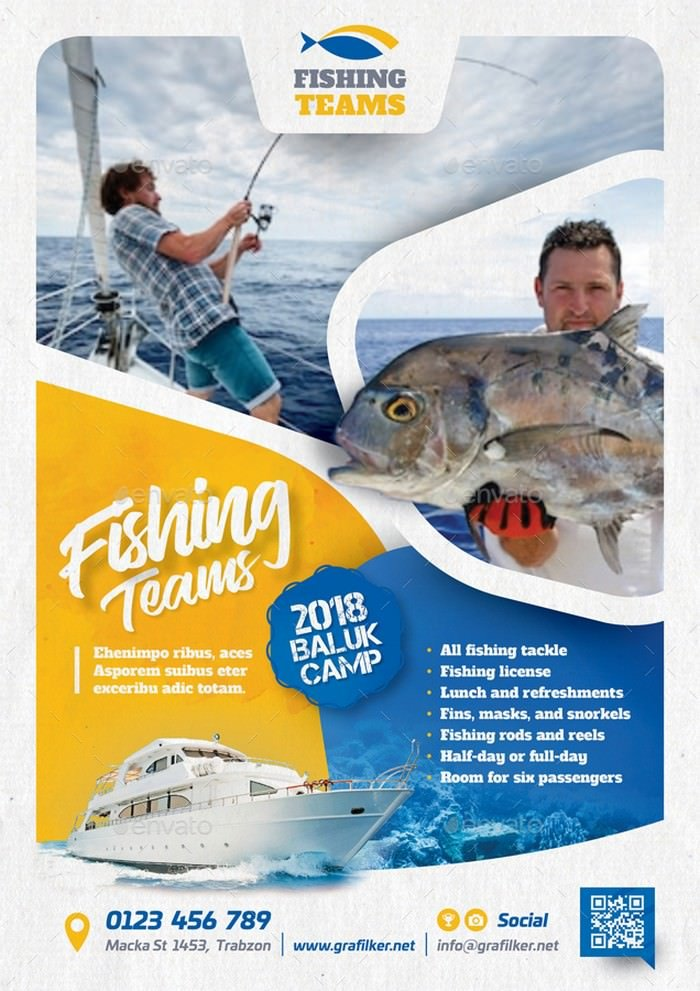 Fishing Tour Flyer Templates