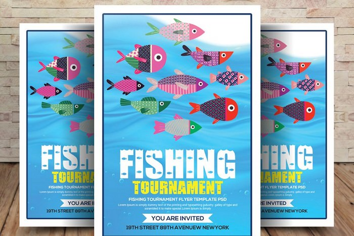 Fishing Tournament Flyer PSD Template