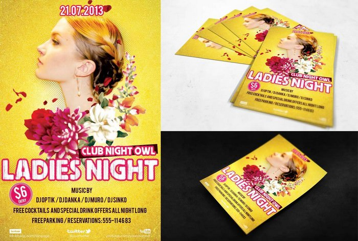 PSD Flyer Ladies Night