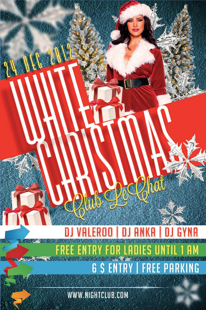 PSD Flyer White Christmas 2