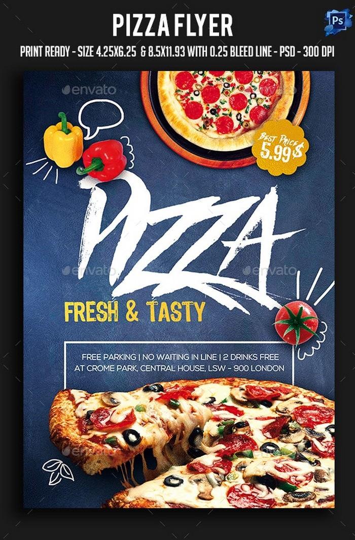 Fresh & Tasty Food Flyer PSD