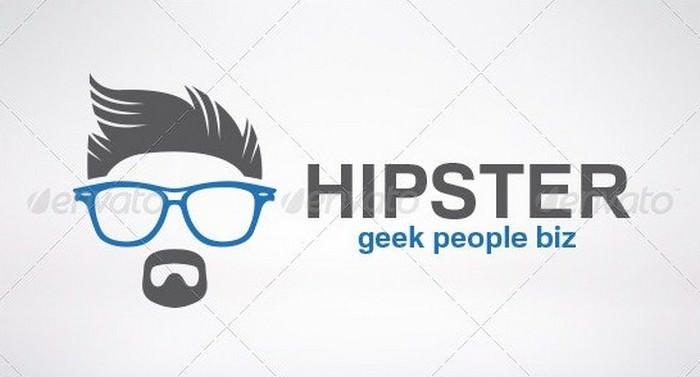 Hipster Geek People Logo