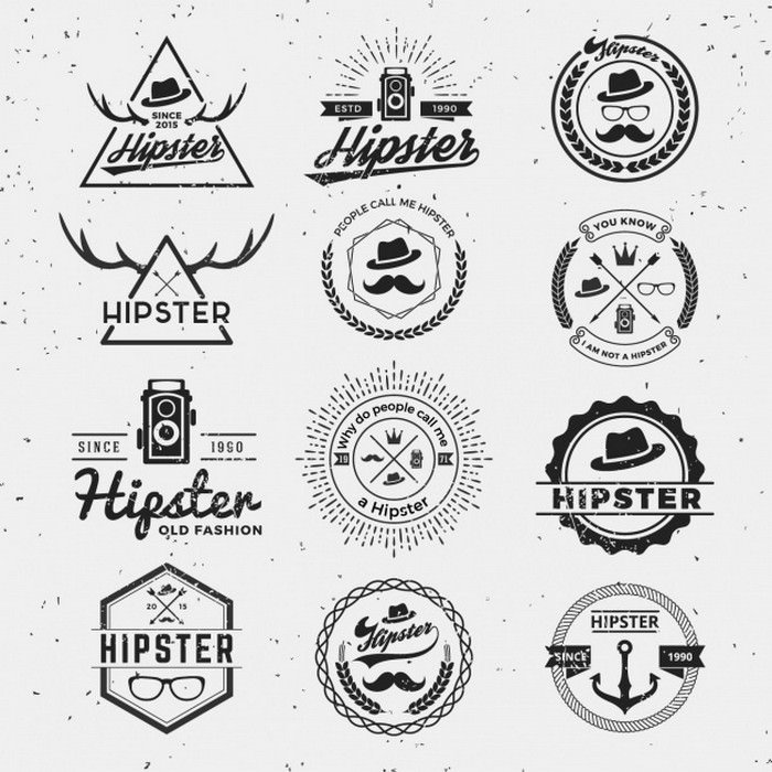 Hipster Logos Collection