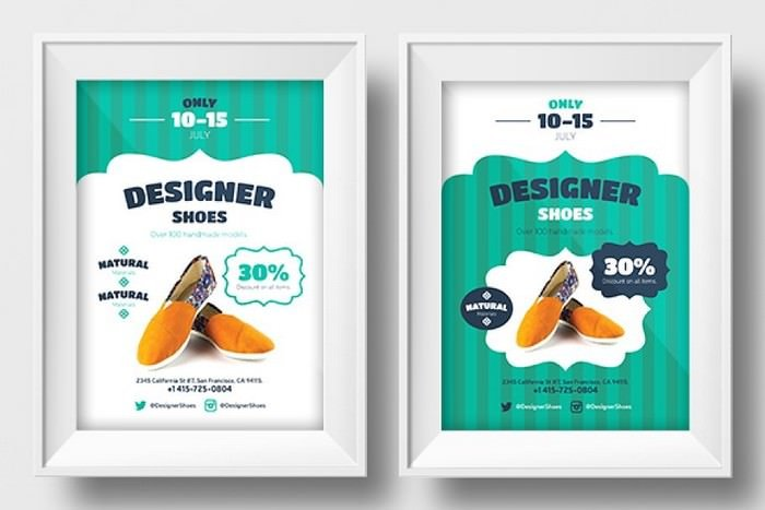 New shoes promo template