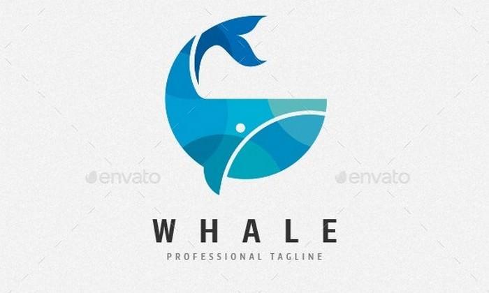 Ocean Whale Logo