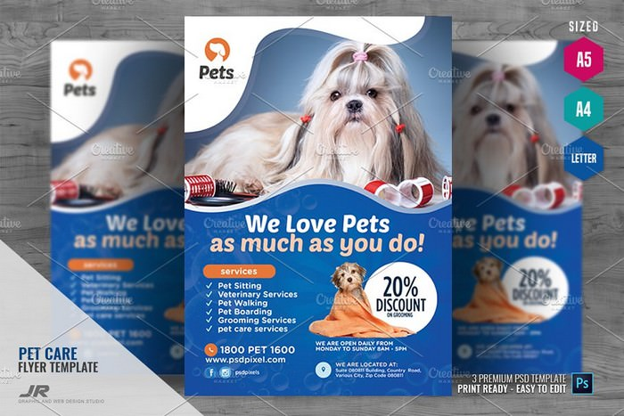 Pet Animal Care Flyer