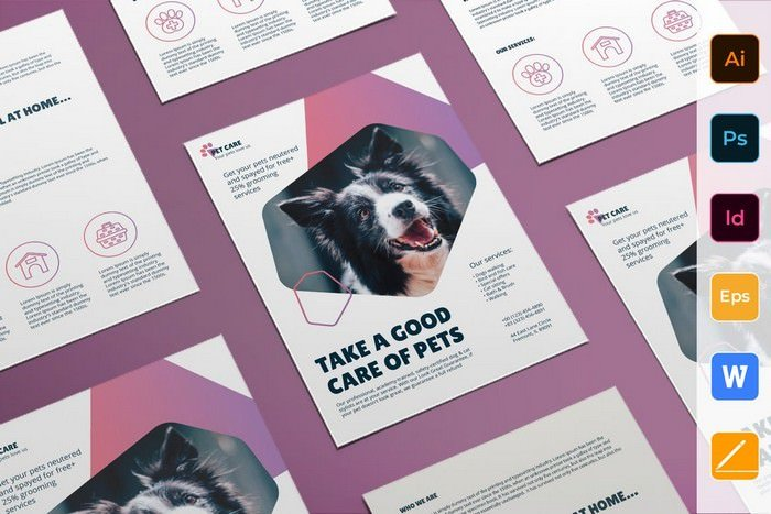 Pet Grooming Care Flyer