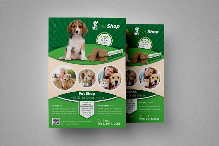 Pet Shop Flyer Template # 3