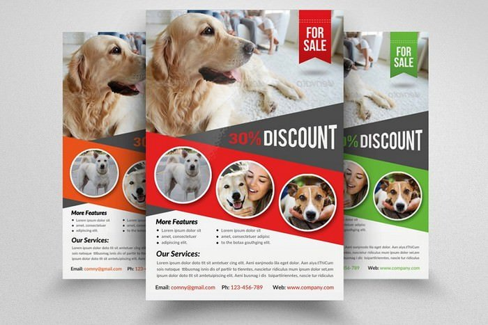 Pet Shop & Store Business Flyer