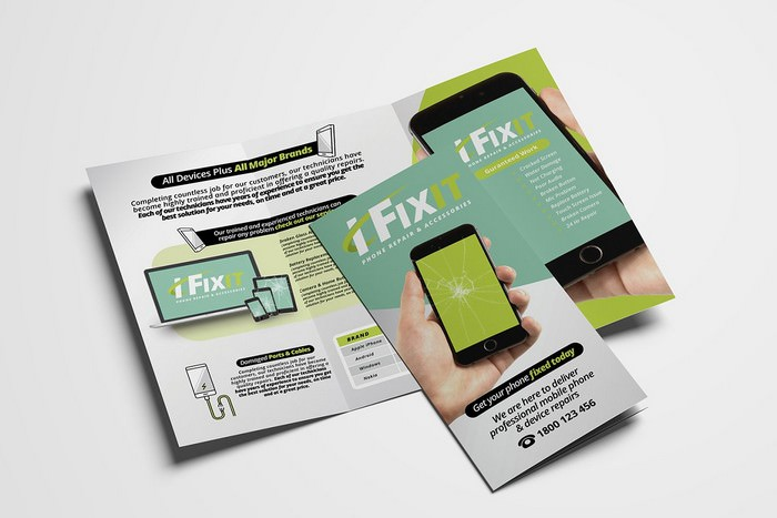 Phone Repair Shop Tri-Fold Brochure