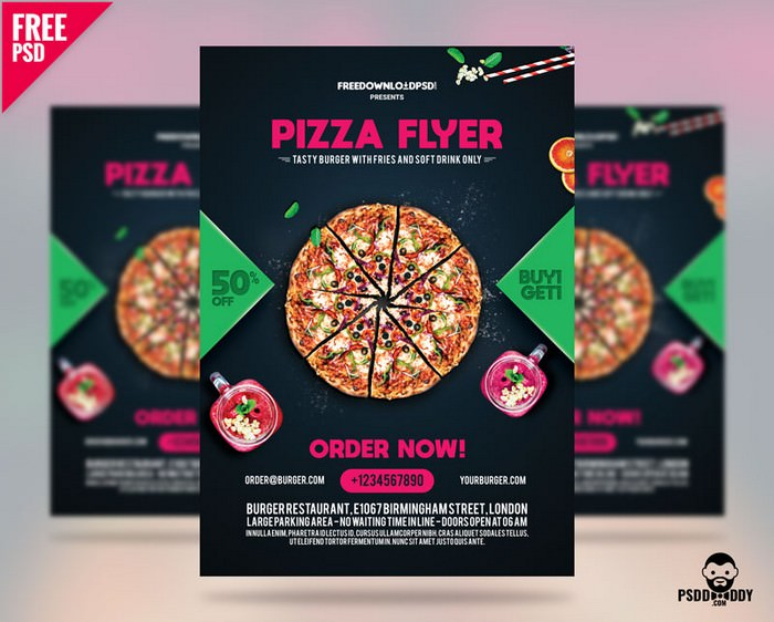 Pizza Flyer Free Template