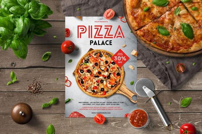 Pizza Palace Flyer Menu