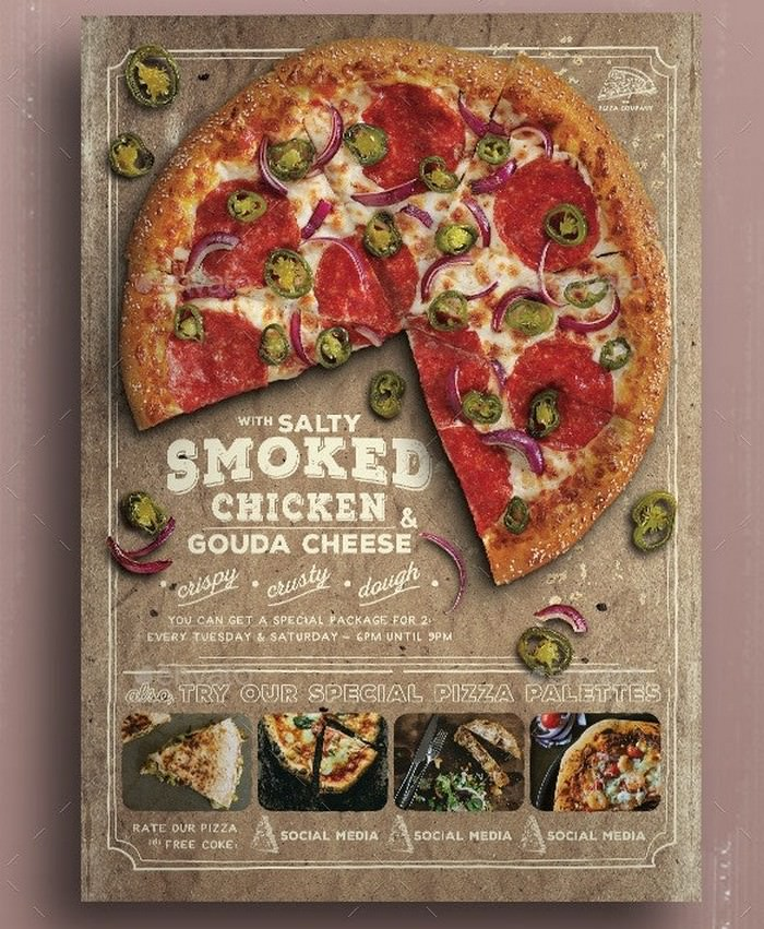 Pizza Promo PSD template For Promotion