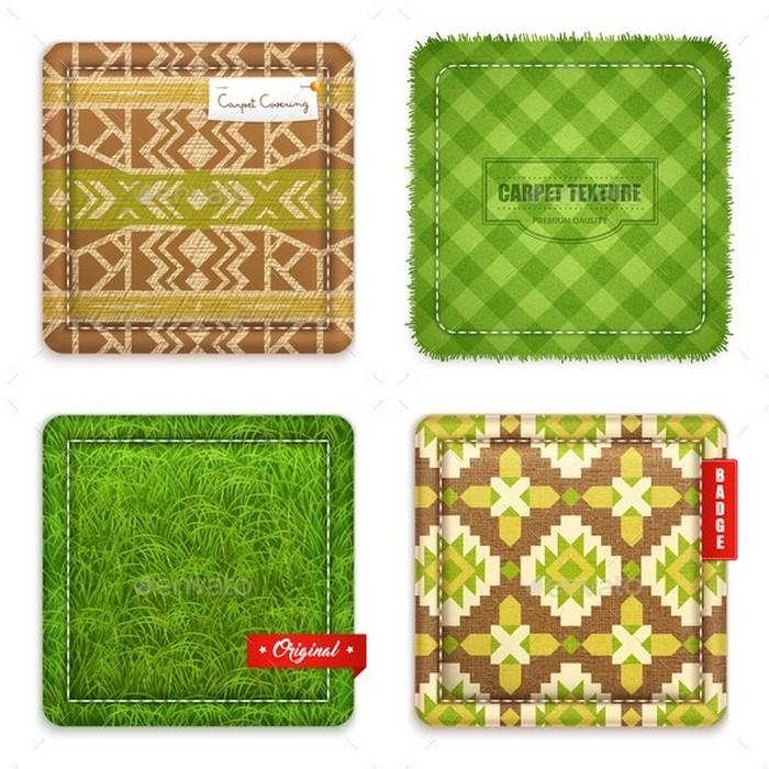 Realistic Carpet Texture Pattern Set