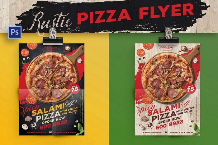 Rustic Pizza Flyer