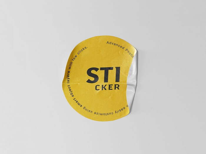 Simple Sticker Mockup For Presentation