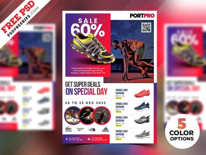 Sportswear Sale Flyer PSD Templates