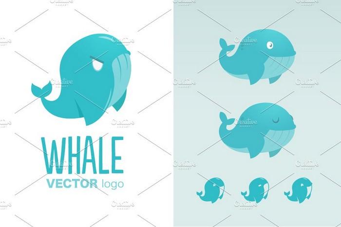 Vector Whale Logo