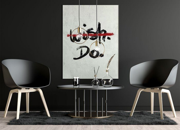 Wall Poster Canvas Mockup