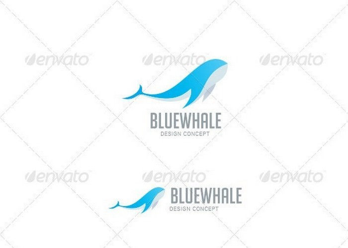 Whale Fish Abstract Logo
