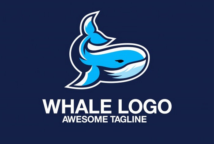 Whale Logo Design Awesome Inspiration