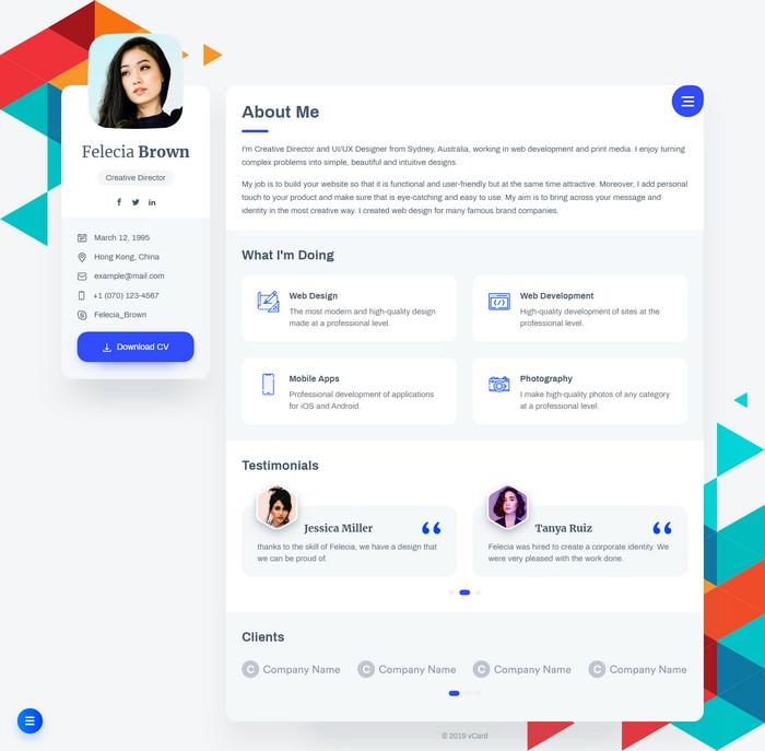 vCard – Resume CV