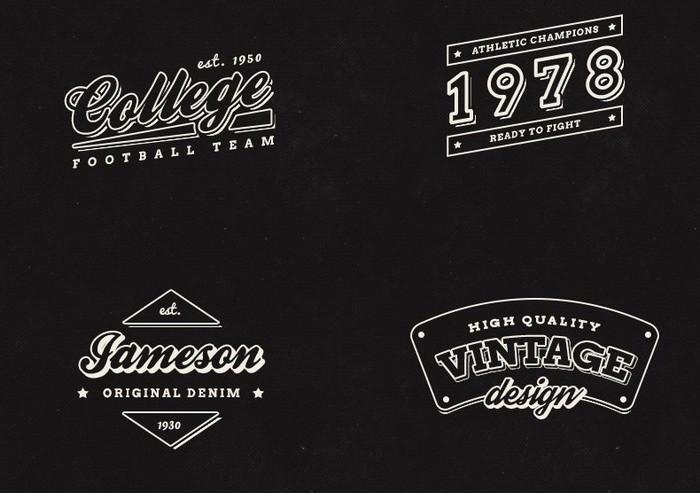 10 Free Vintage Retro Labels PSD