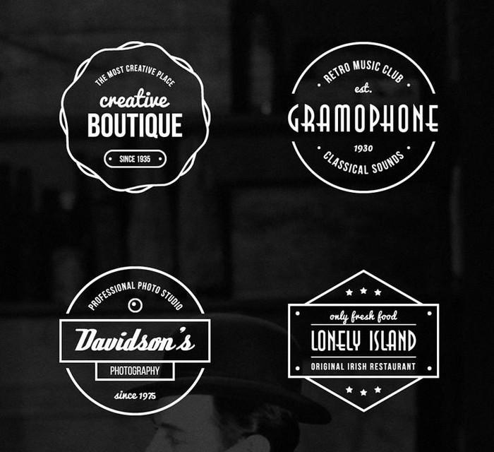 16 Free Vintage Logo & Badge Vector Templates