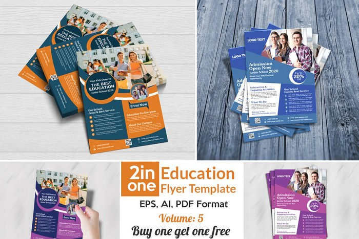 2 in one Education Flyer