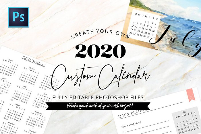 Fully Editable Calendar Kit