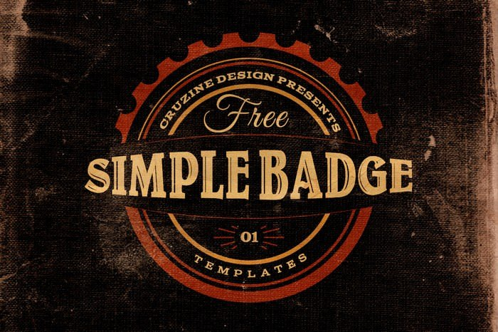 3 Free Simple Badge Templates